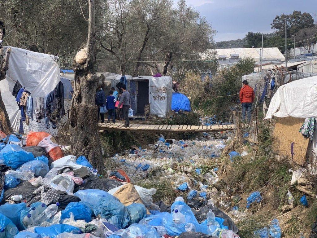 Campo de refugiados en Lesbos, Grecia.