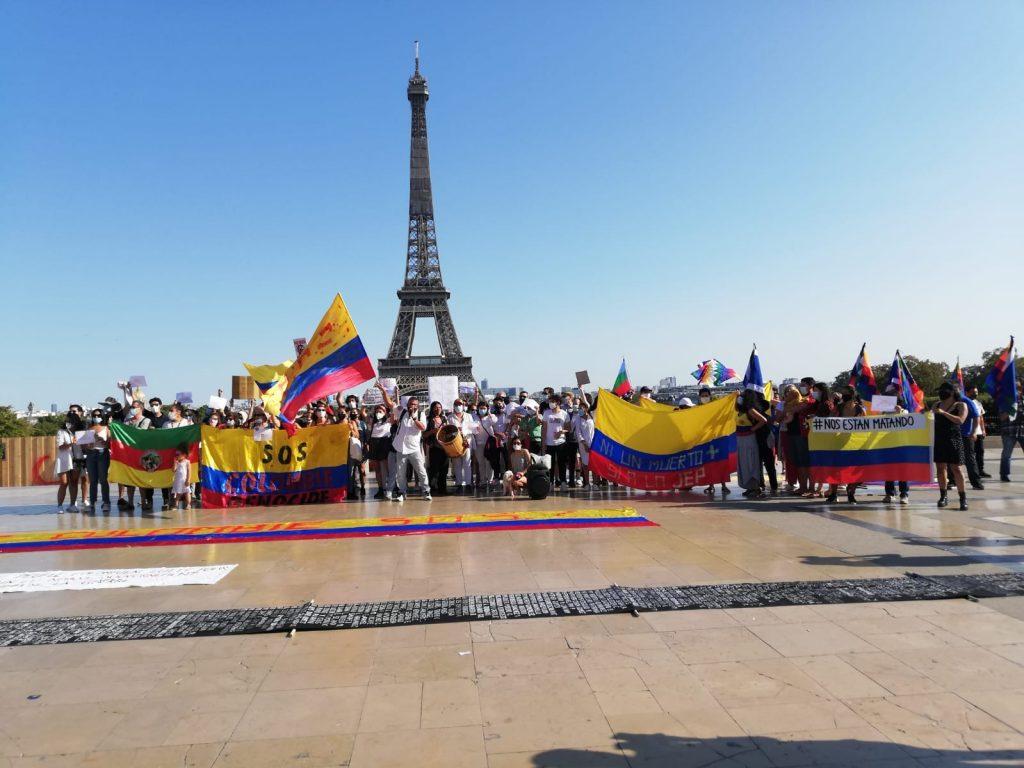 Colombia protesta en París
