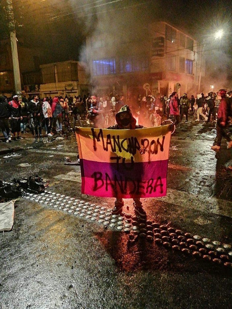 Protesta en Bogotá, Colombia