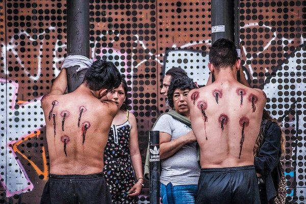 Demostración en Santiago de Chile