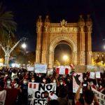 Comunidad peruana protesta en Barcelona