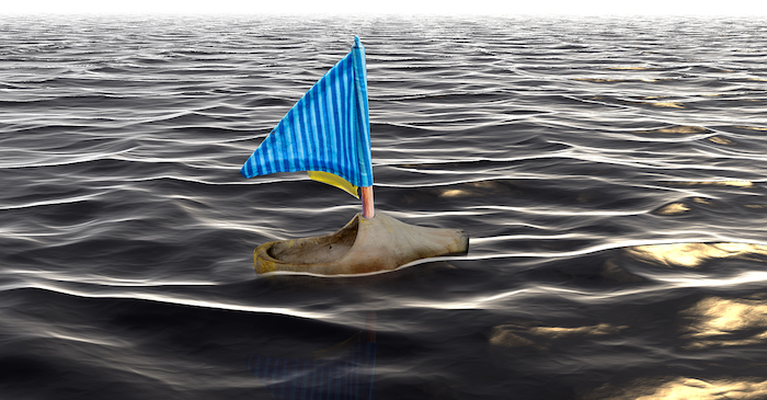Sueco flotando sobre el canal. Imagen de Annick Vanblaere en Pixabay