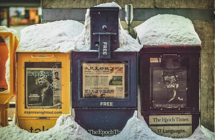 Máquina de periódicos