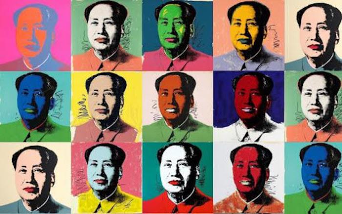 Mao por Andy Warhol. Imagen del portal Buenos Aires
