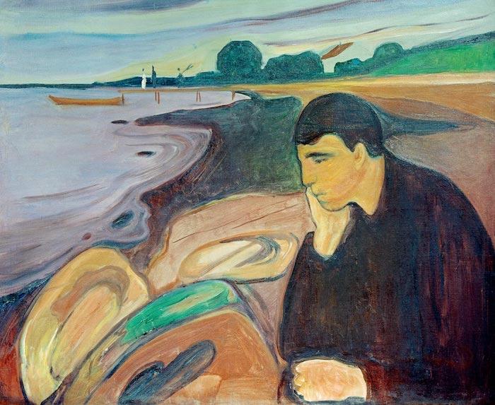 Melancolía de Edvard Munch.
